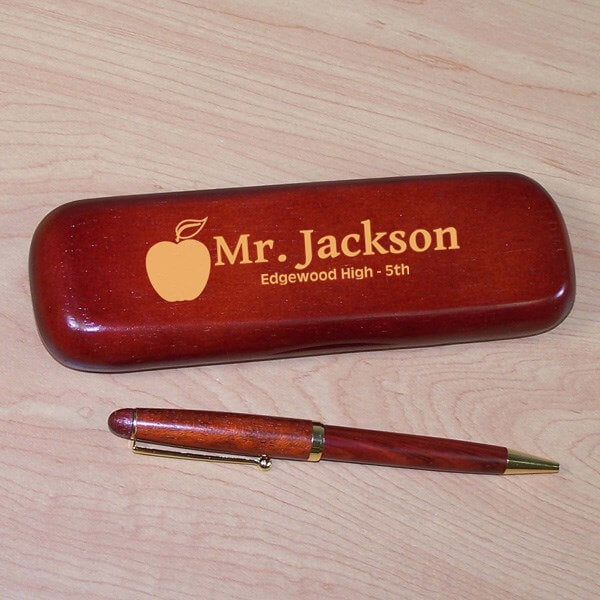 Teacher Rosewood Pen Set