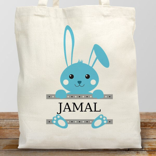 Personalized Easter Bunny Tote Bag