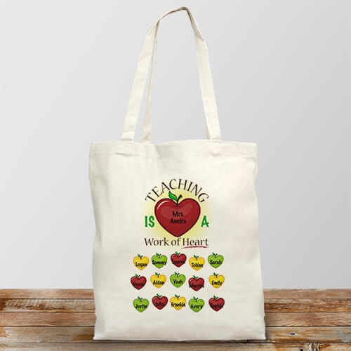 Work of Art Personalized Teacher Tote Bag