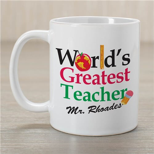Personalized World's Greatest Teacher Coffee Mug