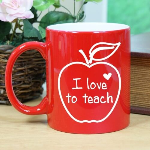I Love Teaching - Red Mug