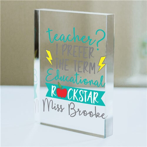 Personalized Educational Rock Star Acrylic Keepsake