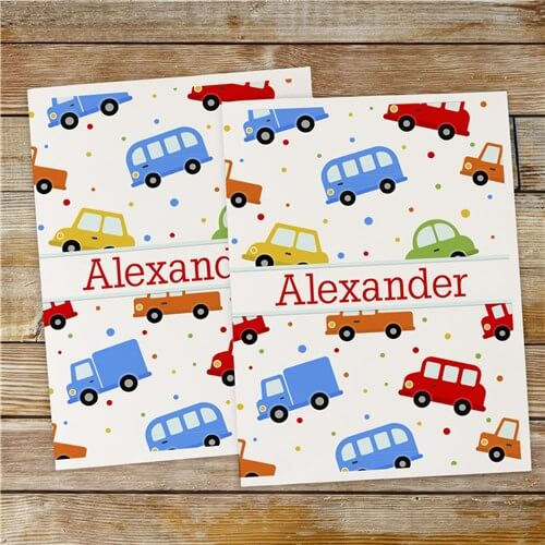 Personalized Cars Folder Set