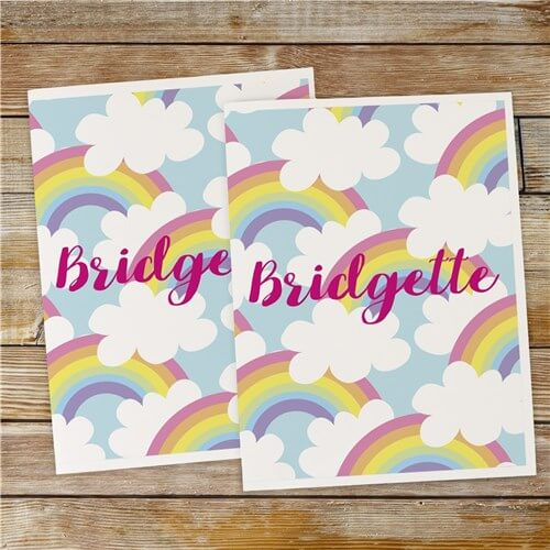 Personalized Rainbows Folder Set
