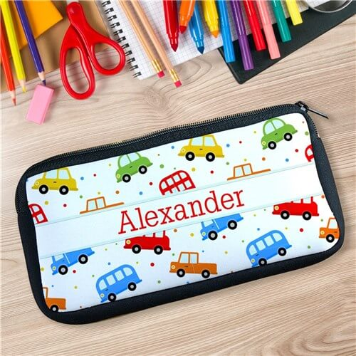 Personalized Cars Pencil Case