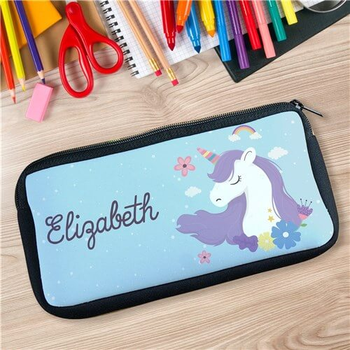 Personalized Magical Unicorn Pencil Case