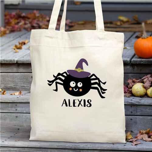 Personalized Halloween Spider Tote Bag