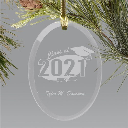 Personalized Grad Christmas Ornament