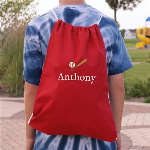 Personalized Embroidered Icon Drawstring Sports Bag