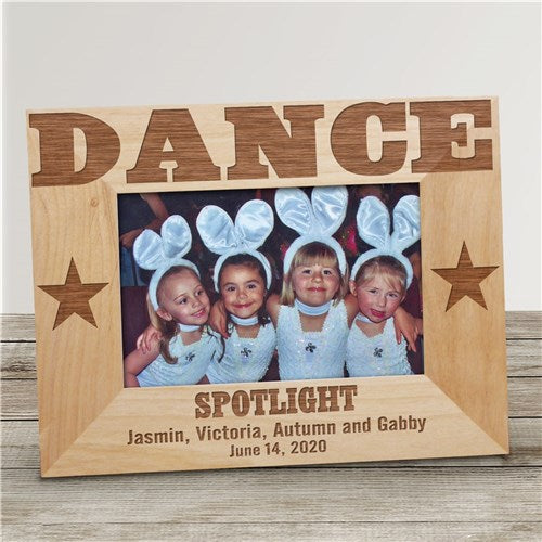 Engraved Dance Wood Picture Frame