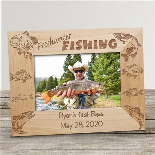 Bliss EDU Personalized Freshwater Fishing Picture Frame