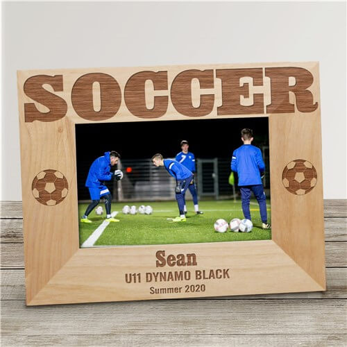 Bliss EDU Personalized Soccer Wood Picture Frame