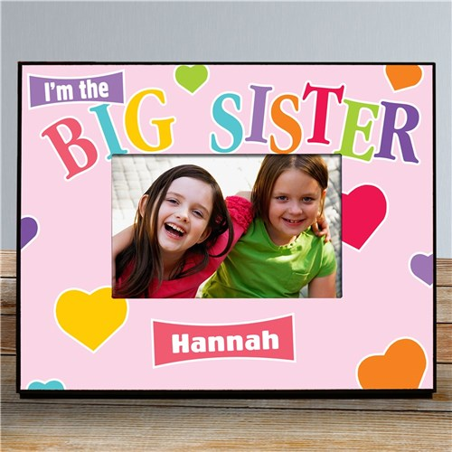 Heart Personalized Sister Printed Frame