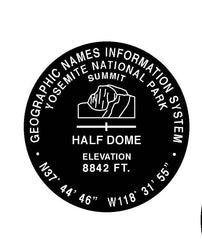 Half Dome GNIS Pin