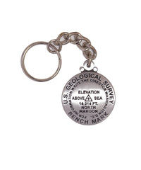 North Maroon Key Chain