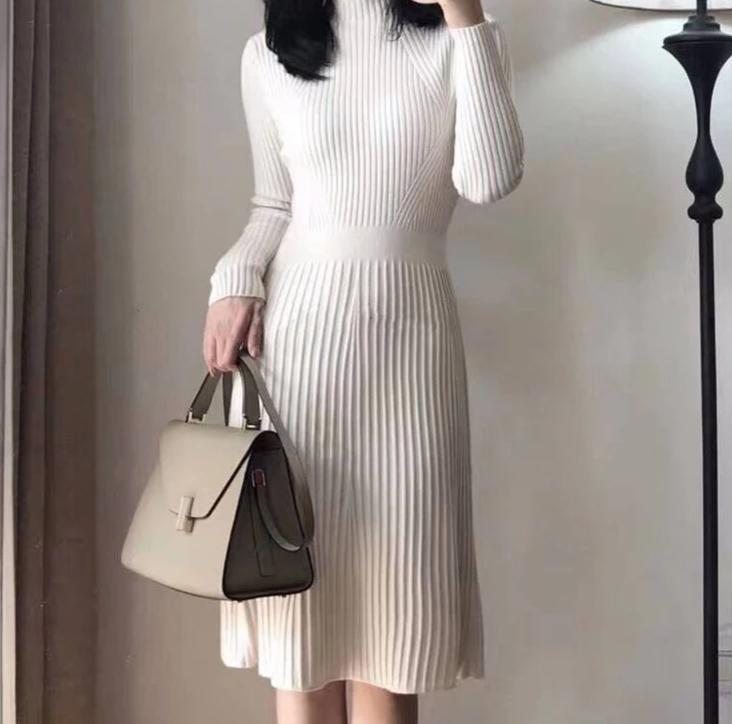 Stella Slim A-line Knit Midi Dress