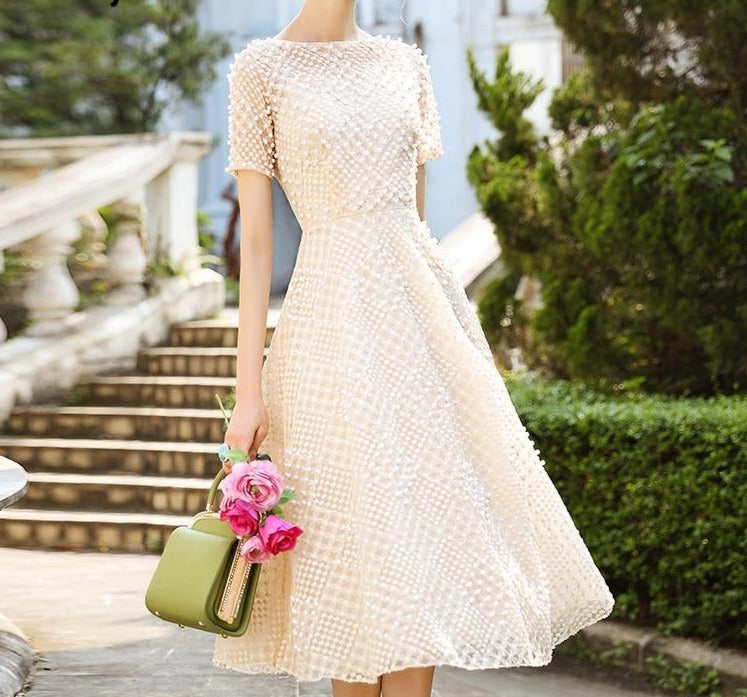Laurel Pearl Beaded Dress
