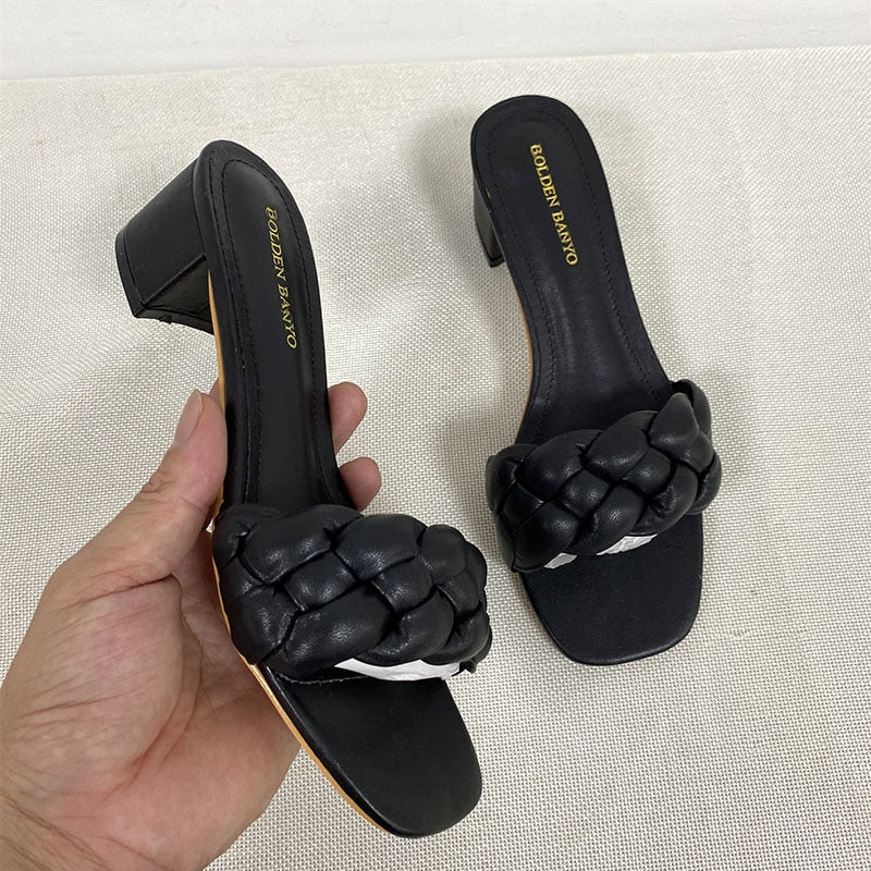 Alexandria Quilted Slide Sandals