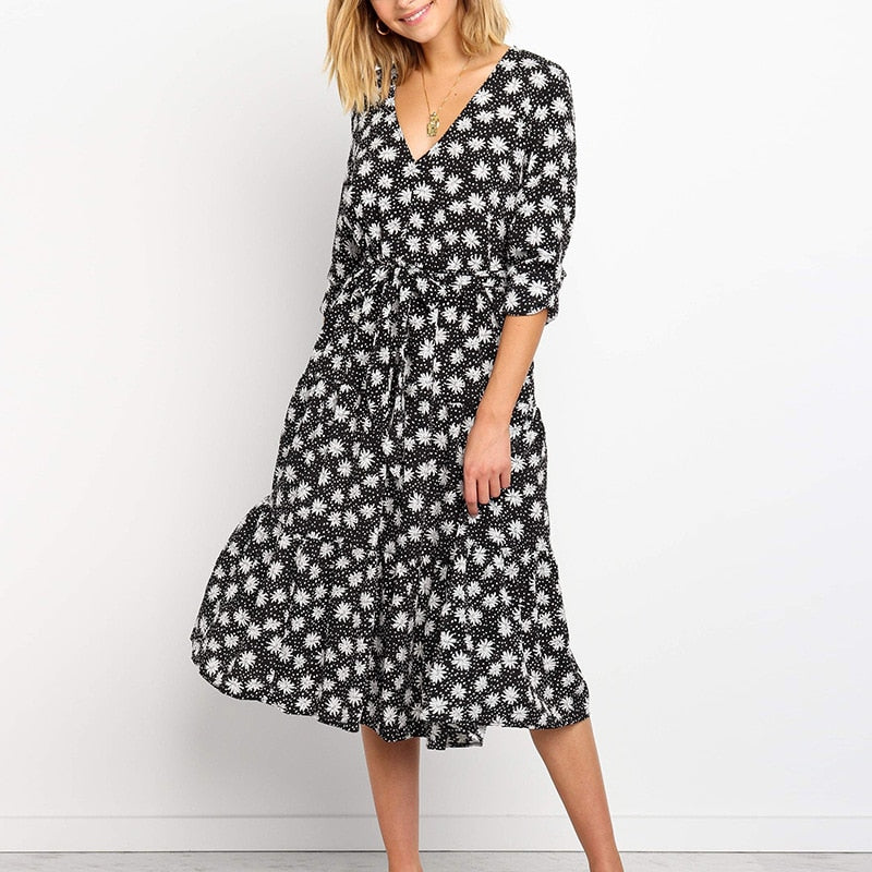 Abigail Floral Chiffon Dress