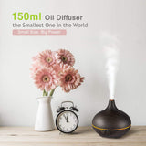 150ml Mini Aroma Wood Grain Cool Mist Diffuser - Nebulizer Store
