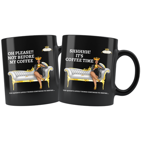 Black Coffee Mug Set - Oh Please and Shhh