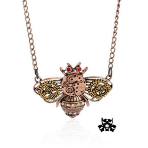 Collier vintage engrenage abeille