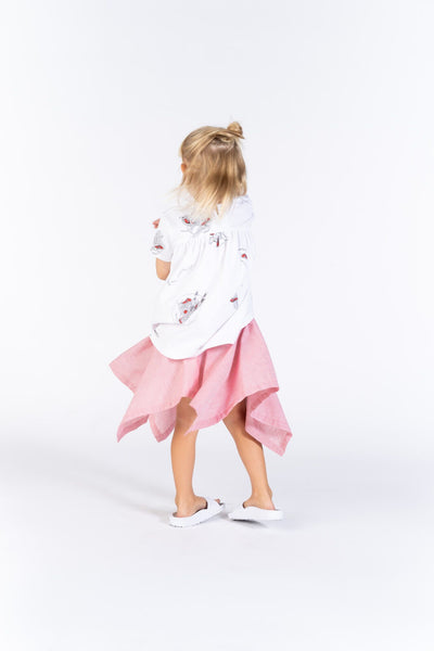 Striped Handkerchief Girls Skirt
