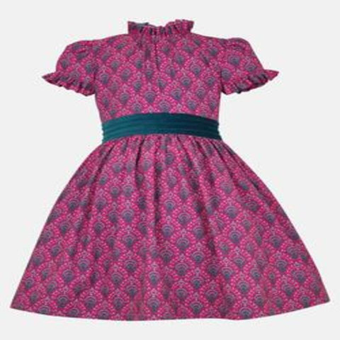 Malicent: Magenta Print Dress and Headband