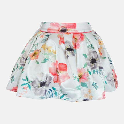 ARIA: CORAL POPPY SKIRT