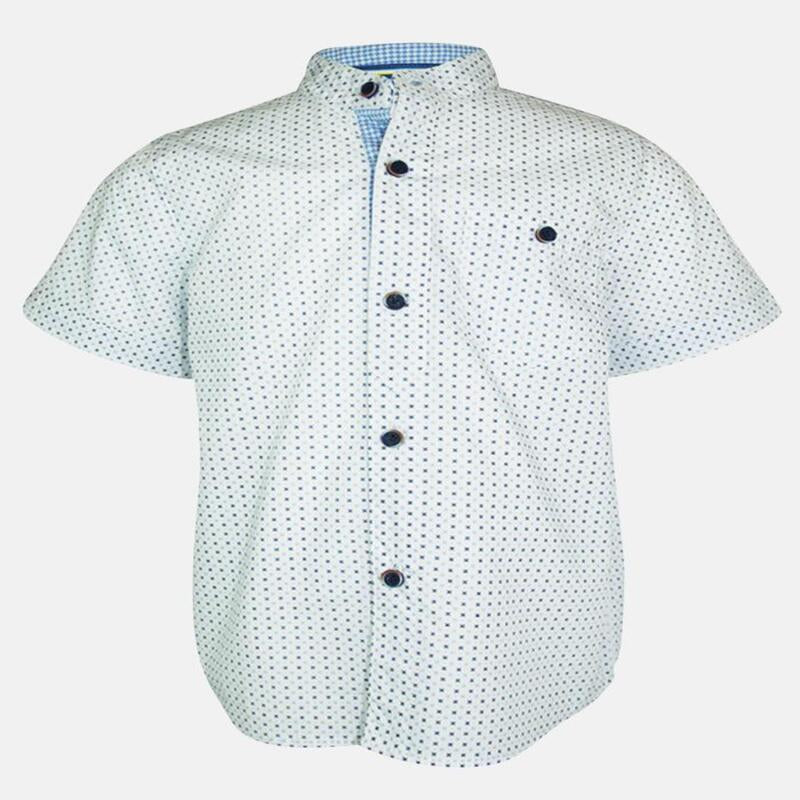 REUBEN: WHITE TEXTURED SHIRT