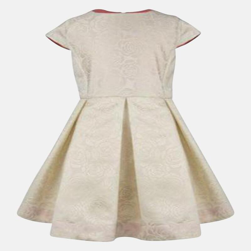 SOPHIE : CREAM JACQUARD DRESS