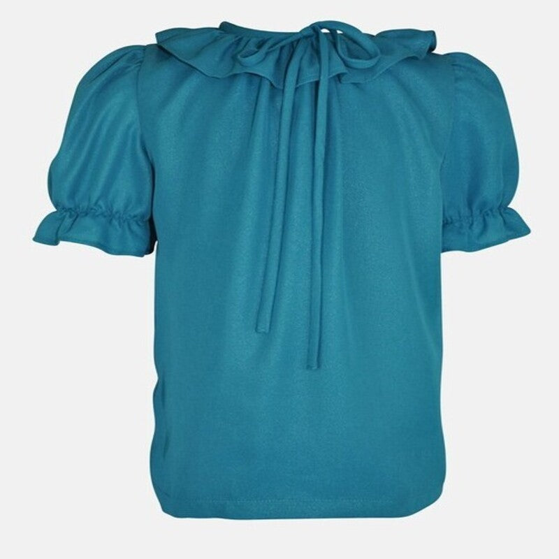 PIPPA: TEAL SHIMMER BLOUSE