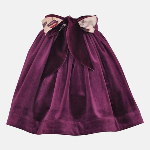 Jane: Plum Velvet Skirt