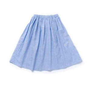 Windowpane Midi Girls Skirt