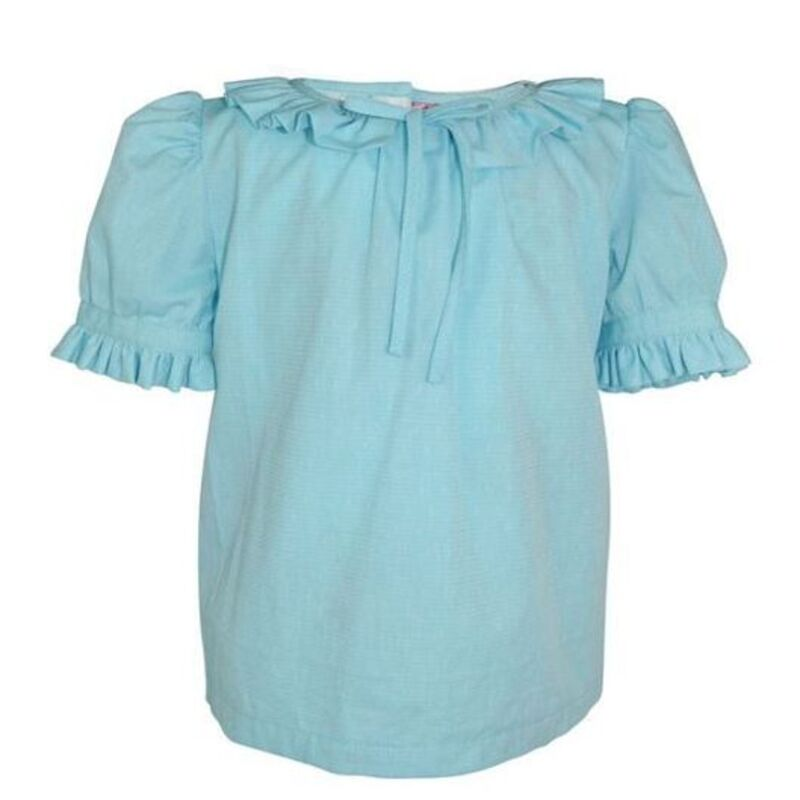 MARGOT BLUE FRILL BLOUSE