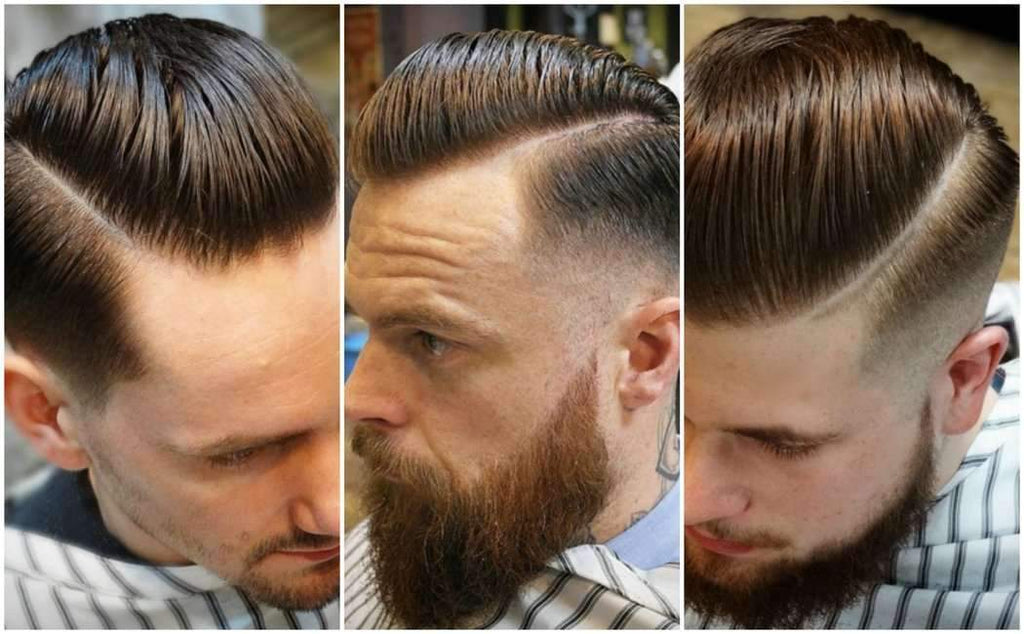 SpringSummer 16 hair trends|Hair Quiff|Jon Bourne Portrait|Jon Bourne beard and moustache collage|Hair Parting|Fellowes and Prosaro Beard Treatments|Jon Bourne Barbertown