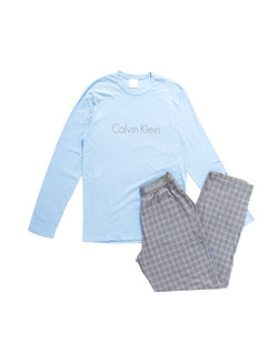Calvin Klein - Underwear PJ Pant W Long Sleeved Crew Blue & Grey