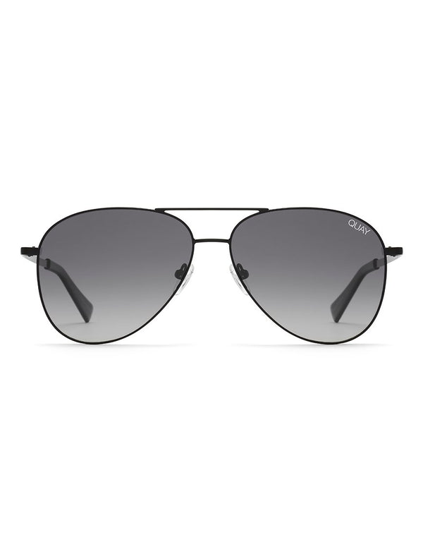 Quay Australia - Still Standing Matte Black Sunglasses With Smoke Lens