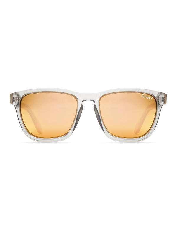 Quay Australia - Hardwire Sunglasses Grey With Peach Lens