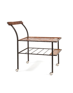 PUSH / / PULL - Vintage Copper Drinks Trolley Brown