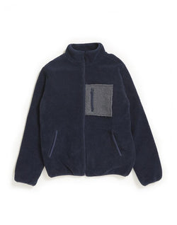 The Idle Man - Fleece with Pocket Navy