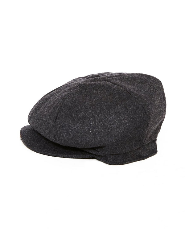 The Idle Man - Wool Blend Baker Boy Hat Grey