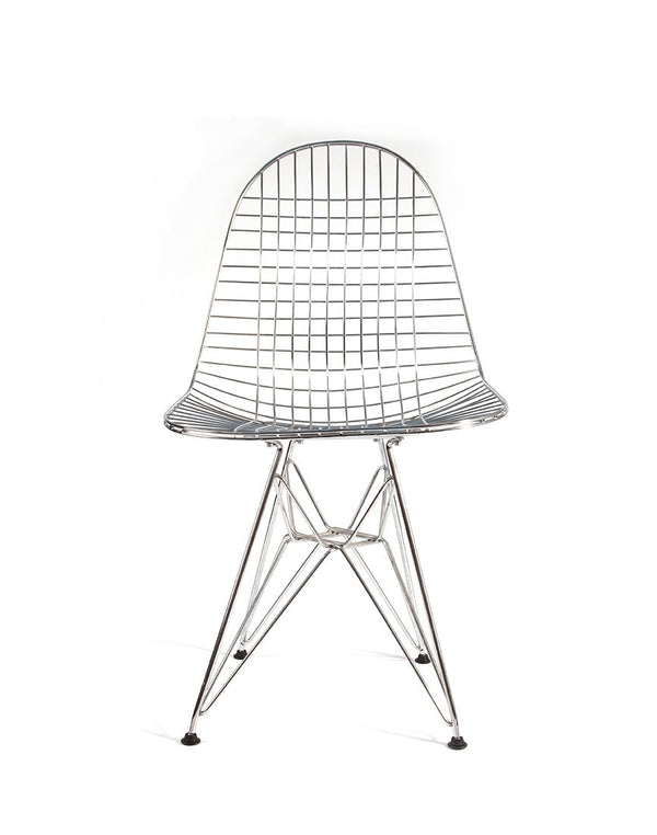 PUSH / / PULL - Vintage Wire Chair Grey