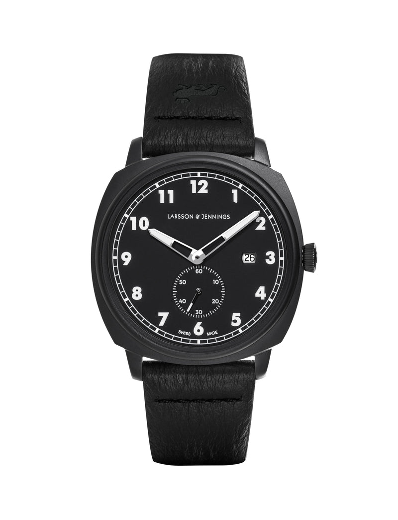 Larsson & Jennings - Editor 38mm Watch Black & Black Sanblasted