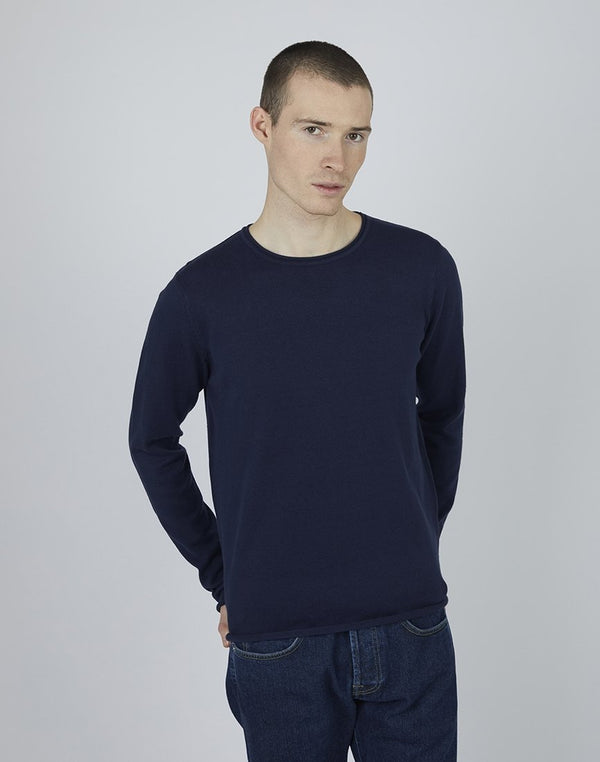 The Idle Man - Crew Neck Jumper Navy