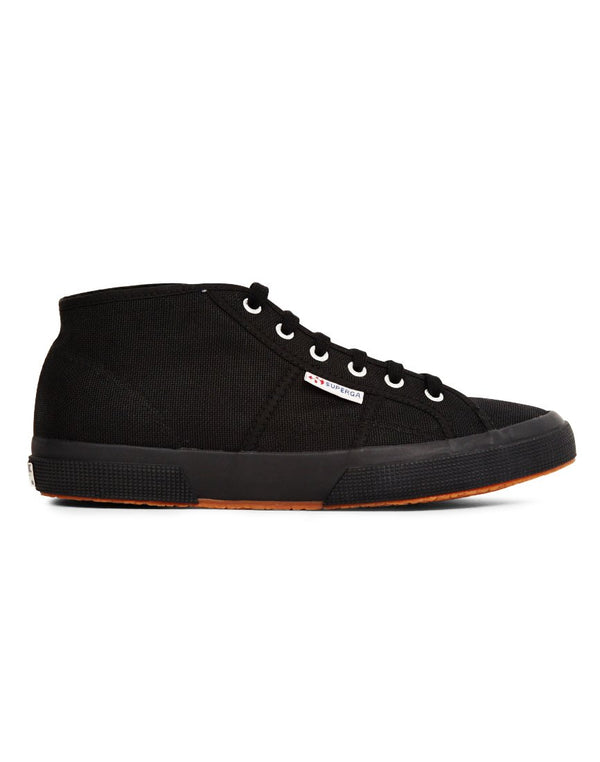 Superga - 2754 Cotu Mid Cut Plimsolls Black