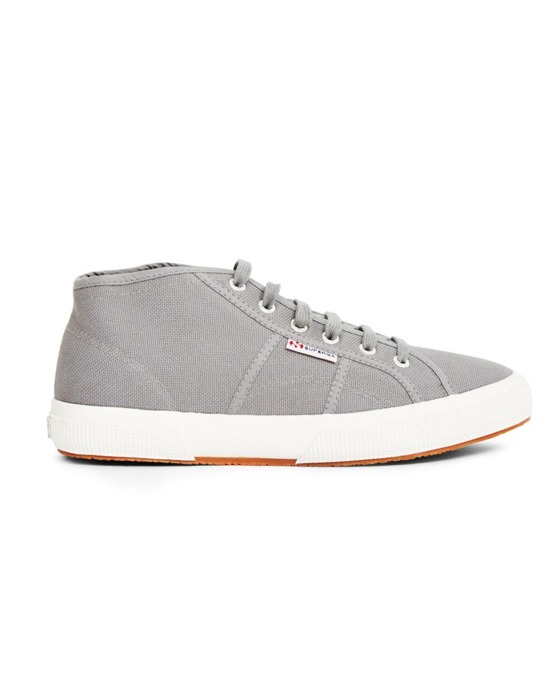 Superga - 2754 Cotu Mid Cut Plimsolls Grey