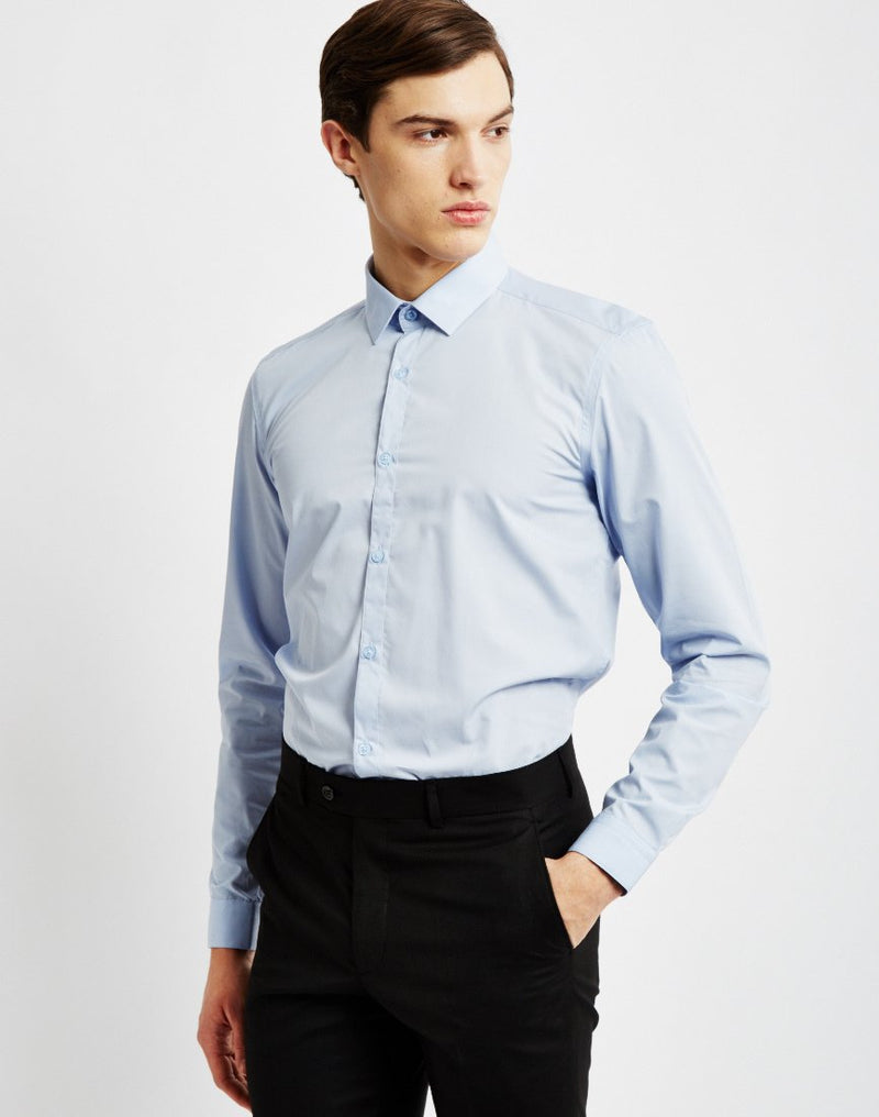 The Idle Man - SmarT-Shirt in Pale Blue