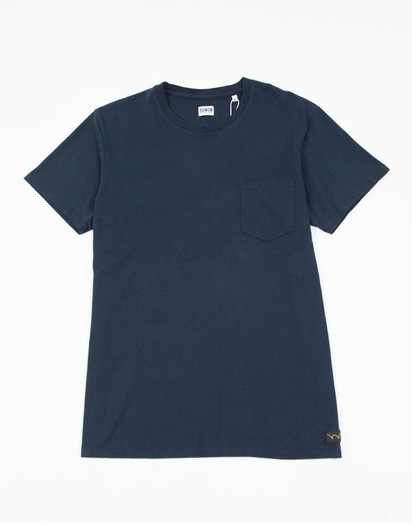 Edwin - Pocket T-Shirt Navy