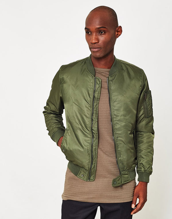The Idle Man - Padded MA1 Bomber Green
